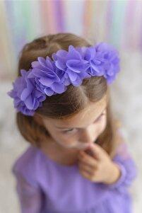 Lila Kız Çocuk Taç Frida