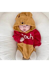 Icon Babies Winnie The Pooh Baskılı Kapşonlu Çıtçıtlı Sweet