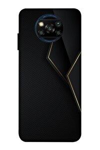 Xiaomi Poco X3 Uyumlu Black Line Desenli Baskılı Silikon Kılıf