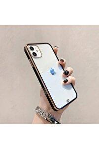 Iphone 11 Premium Electrolize Silikonlu Siyah Telefon Kılıfı
