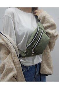 Kadın Yeşil Askılı Çapraz Omuz Ve Bel Çantası