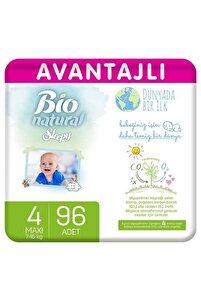Bio Natural Avantajlı Bebek Bezi 4 Numara Maxi 96 Adet