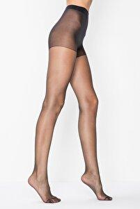 Görkem Kadın Siyah 15 Den Fit Parlak Ince Külotlu Çorap