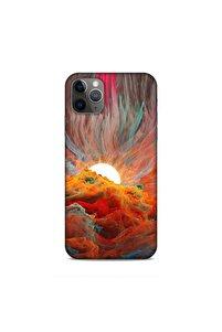 Apple Iphone 11 Pro Max Uyumlu  Kılıf Fragments Sunset Desenli Silikon Arka Kapak
