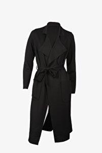 Siyah Dalgıç Kumaş Ceket