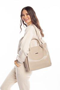 Aynı Butikte 2. Ürün 1 TL Vizon Kadın Halterli Çanta