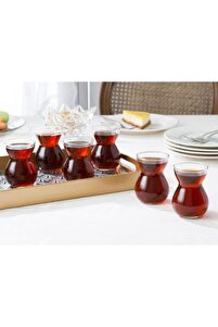 Etnik Cam 6'lı Çay Bardağı 140 Ml Şeffaf