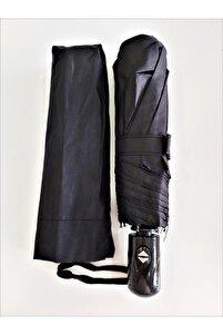 Şemsiye Siyah Tam Otomatik Rüzgarda Kırılmayan