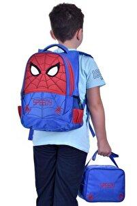 Yeni Sezon Anaokulu Ve Ilkokul Beslenmeli Su Geçirmez Erkek Çocuk Okul Çantası Örümcek Adam