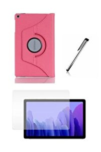 "Pembe Galaxy Tab A7 10.4"" Sm-t500 Sm-t507 Uyumlu Kılıf Set /Kılıf+ Temperli Cam + Kalem"