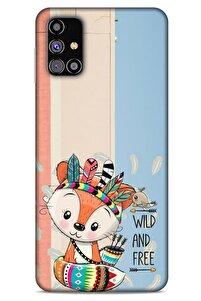 Animax Kızılderili Tilki Samsung Galaxy M31s Kılıf Desenli Silikon