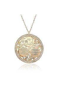 Ayetel Kürsi Nazar Duası Allah Yazılı Bayan 925 Ayar Gümüş Kolye