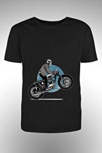 Motorsiklet Baskılı T-shirt