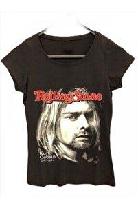 "Rolling Stone ""kurt Cobain"" Girl Kesim T-shirt"