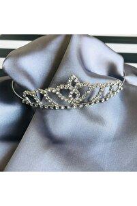 Kristal Taşlı Gelin Saç Aksesuarı, Prenses Tacı, Gelin Tacı
