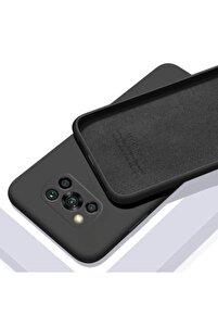 Xiaomi Poco X3 Nfc Kılıf Içi Kadife Mat Ve Ipeksi Yüzey Lüx Silikon Lansman Kapak - Siyah