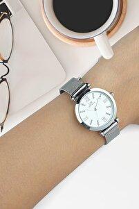 Dbg1018 Kadın Kol Saati Hasır Gümüş