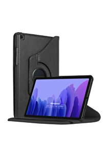 Microsonic Galaxy Tab A7 T500 Kılıf 360 Rotating Stand Deri Siyah