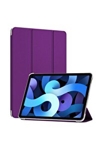 Microsonic Ipad Air 4 (2020) Kılıf Slim Translucent Back Smart Cover Mor
