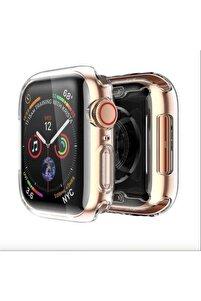 Apple Watch 44 Mm Uyumlu Şeffaf Silikon Kılıf Iwatch 44mm Tam Koruma Koruyucu