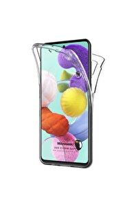 Microsonic Galaxy A51 Kılıf 6 Tarafı Tam Full Koruma 360 Clear Soft Şeffaf