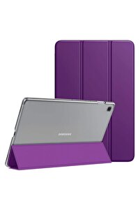 Microsonic Galaxy Tab A7 T500 Kılıf Slim Translucent Back Smart Cover Mor