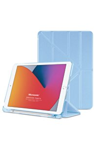 Microsonic Ipad 10.2'' 8. Nesil Kılıf (a2270-a2428-a2429-a2430) Origami Pencil Mavi