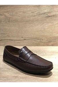 Erkek Rok Taban Kahverengi Ayakkabı