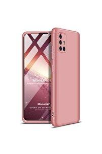 Microsonic Galaxy A51 Kılıf Double Dip 360 Protective Rose Gold