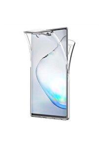 Microsonic Galaxy Note 10 Kılıf 6 Tarafı Tam Full Koruma 360 Clear Soft Şeffaf