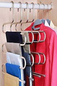 5 Katlı Metal Pantolon Eşarp Askısı-5 Adet