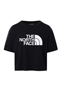 W Cropped Easy Tee Kadın Siyah Tshirt Nf0a4t1rjk31
