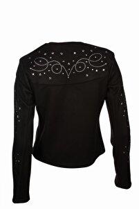 Kadın Siyah Sırt Detaylı Ceket