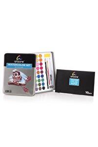 Artzone 36 Renk Suluboya Seti + Kağıt Ve Aksesuar