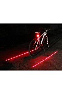 Bisiklet Lazer Güvenlik Şeriti Led Stop Lambası 7 Fonksiyon 5 Led