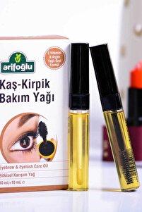 Kaş Kirpik Bakım Yağı 10 ml + 10 ml - Argan Yağlı & Doğal E Vitaminli