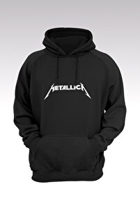 Metallica 127 Siyah Kapşonlu Sweatshirt - Hoodie