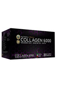 Premium Collagen 6000 Shot 30x40ml Tip 1-3 Hidrolize Kolajen Q10 B7 C E Vitaminli