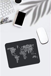 Dünya Haritası Desenli Mouse Pad 625