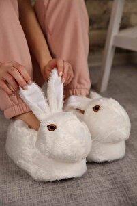 Kadın Beyaz Tavşanlı Panduf Ev İçi Bot