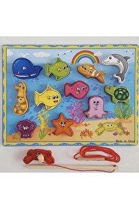 Ahşap Mıknatıslı Balık Tutma Oyunu