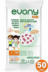 Kids Cerrahi Maske 10 Lu 5 Paket = 50 Adet