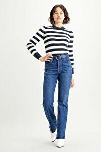 Kadın Mavi Ribcage Bootcut Yüksek Bel Jean