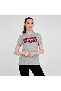 Kadın Gri T-Shirt 17369-0263