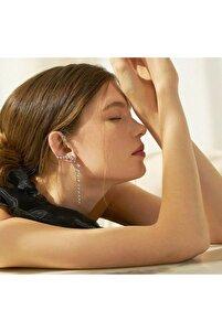 Kadın Tasarım Gümüş Küpe