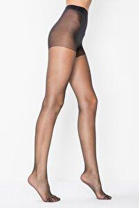 Kadın Siyah 15 Den Fit Parlak Ince Külotlu Çorap