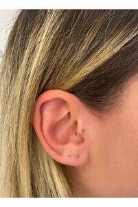 Gold 6mm Cerrahi Çelik Tragus Piercing