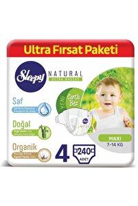 Natural Cırtlı Bebek Bezi 4 Beden 240 Adet + 10 ml Pişik Kremi