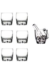 6 Adet Sylvana Viski Bardağı Ve Sylvana Buz Kovası Seti