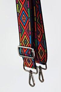 Devin Ekosel Desenli Çanta Askısı Black